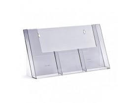 Namizno PVC stojalo 1/3 A4  PVC stojala (namizna/stenska)