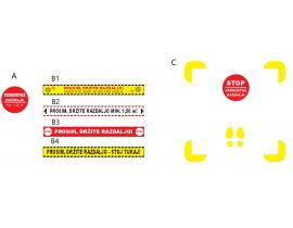 Talne COVID samolepilne označbe